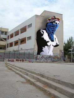 Athens Street Art 17 Goin - Venus De Milo in Athens, Greece for the festival Crisis, What Crisis