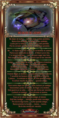 ¡NO DEJES DE LUCHAR!