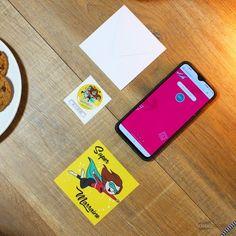 """Carte de Voeux Dématérialisée """"Super Marraine"""" Messages, Phone Cases, Key, Hidden Letters, Greeting Card, Gift, Unique Key, Text Posts"""