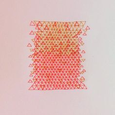 Embroidery on paper by Marina Tello #marinatello