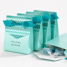Tiffany Blue Chevron