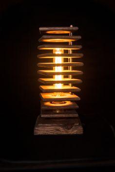 NEW HANDMADE DESK FLOOR LAMP'S JENGA SWAP OF LIGHT Handmade Desks, Wood Furniture, Night Light, Floor Lamp, Light Bulb, Lights, Jenga, Ebay, Home Decor