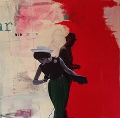 """""""Looking for"""" 80x80 mixed media www.elskunst.nl"""