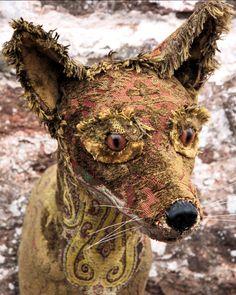 red fox, fauxidermy, taxidermy, textile taxidermy, helly powell,