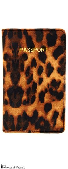 info for 14af9 9e7c7 ASOS Passport Holder Passport holder, featuring an all over leopard print  design, printed gold-tone detail to the front, fold closure and contrast  lining.