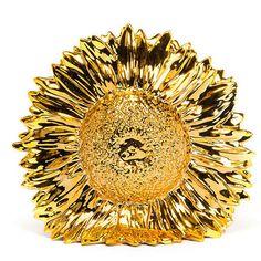 Harry Allen Gold Sunflower Vase