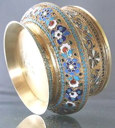 Russian Silver-gilt and Cloisonne' Bowl by Zverev - absolutely STUNNING!