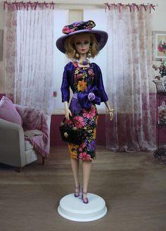 """Robe """" Béatrice """" tenue pour poupée  f3788"""