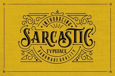 Sarcastic is a font display is made by hand, inspired by #classic posters. Sarcastic comes with uppercase, lowercase, numerals, punctuations and so many variations on each characters include #opentype alternates, common ligatures and also additional swash to let you customise your #designs. Perfect to use for #logotype #letterhead, Poster, Apparel Design, #label and etc.  #fontdesign #fonts #design #invitation #logo #typography #font #oldfashioned #hipster #letters #vintage #rustic #ad