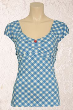 King Louie - 50s Dolly Top Jacky in Celeste Blue