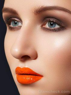 Tendencias de maquillaje  2014-Labios en color tangerine y orquídea radiante.