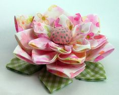 Lotus Fabric Flower Tutorial PDF ... Flower di SundayGirlDesigns, $6.00