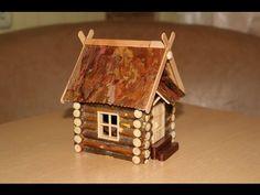 Домик из веток в садик своими руками - YouTube