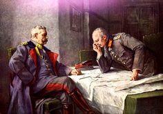 """Hindenburg und Ludendorff – dieses propagandistische Gemälde ist von Hindenburgs """"Hofmaler"""" Hugo Vogel"""