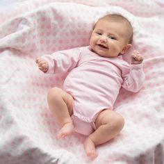 Organic Luxury Muslin Always Blanket - Pink Polka Dot #organic #muslin #blanket #babyblanket