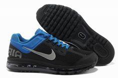 premium selection 50c27 f2b7f Air Max 2013 Black Blue Silver Nike Mens Shoes
