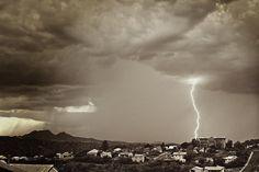 Lightning strike too close for comfort at @wildlifewatchin. Photo courtesy Jim Lindstrom, Globe.