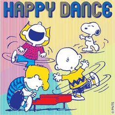 #TGIF Happy Friday! #HappyDance #Snoopy #CharlieBrown #Peanuts