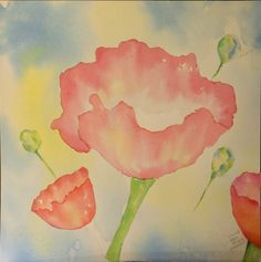 """Fun Watercolor Techniques  by Kathi Hanson Let Kathi Hanson renew your love for watercolor painting by """"making the water work for you.""""  In her poppies project, you will learn when to utilize blow dryers, blotting and water resistance.  Her relaxed attitude, looser style and helpful tips are perfect for less experienced painters."""