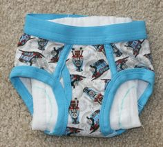 How to make training pants using cloth diapers and big boy underpants