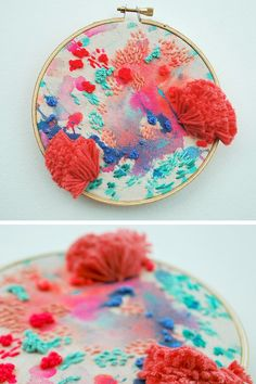 Hand embroidery by Katy Biele #hoopart #textileart