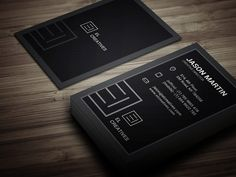 Dark Individual Business Card by bouncy on Creative Market