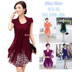New 2014 summer women s casual style plus size 4XL elegant high quality  pretty ladies dress knee a68018b5d