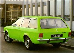 Opel Kadett Estate Car from Awful car, hideous colour Automobile, Station Wagon, Car Brands, General Motors, Vintage Cars, Cool Cars, Classic Cars, Wheels, Retro