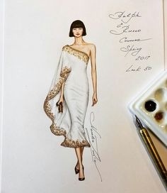 fashion design Natalia Zorin Liu is an artist from Melbourne who made series of tutorials on drawing the amazing fashion characters using watercolor and Copic Markers. Fashion Figure Drawing, Fashion Drawing Dresses, Fashion Illustration Dresses, Fashion Illustrations, Dress Illustration, Simple Illustration, Drawing Fashion, Fantasy Illustration, Art Illustrations