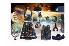 """""""Planetary Sky"""" by rainylilies ❤ liked on Polyvore featuring Marc by Marc Jacobs, Bea & Dot, Vivienne Westwood, Robyn Coles Millinery, Krista R, DKNY, Dirty Laundry, Boxx Cosmetics, Ciaté and plus size dresses"""