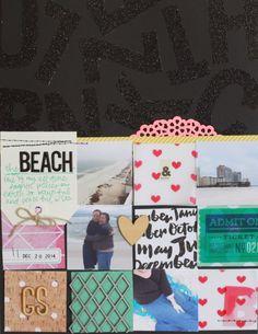 Crafty Scrapbooker: Scrapbook Layout: The Beach