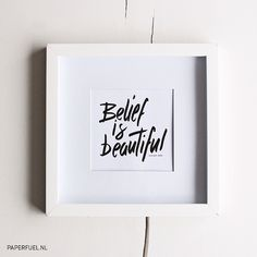 Belief is beautiful!! #lettering #handlettering #brush #paperfuel
