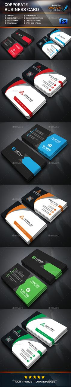 Creative Business Card Bundle Templates #design Download: http://graphicriver.net/item/creative-business-card-bundle/13599459?ref=ksioks