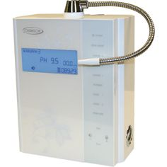 Beautiful White Miracle MAX Water Ionizer from Chanson. The top rated and ONLY water ionizer to allow you to remineralize with the mineral chamber! I use it with Himalayan rock salt (the pink kind) for delicious and super vital water.. http://canadaionizers.ca