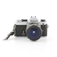 Nikon FM 35mm film camera with 28mm 3.5 NIKKOR H by ShutterLightOC