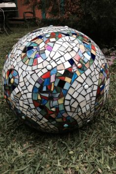 Mosaic sphere. Stained glass.