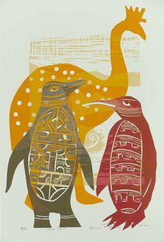 Nz Art, Archetypes, Art Boards, Printmaking, New Zealand, Rooster, Artsy, Illustration Styles, Mural Ideas