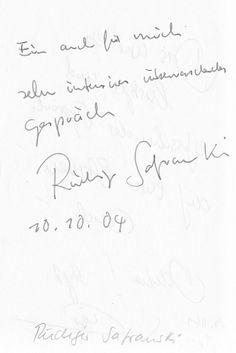 Intensiv und überraschend. Für Wen? Rudiger Safranski - im Gästebuch vom Blauen Sofa!