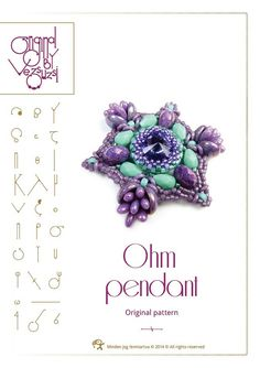 Ohm pendant...PDF instruction for personal use by beadsbyvezsuzsi