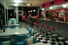 2 photo of 9 for 1950s diner counter