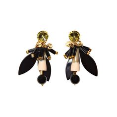 Marni Resin and Crystal Earrings (3,445 CNY) ❤ liked on Polyvore featuring jewelry, earrings, marni, black, crystal, flamingo, crystal jewellery, crystal earrings, marni jewelry and resin earrings