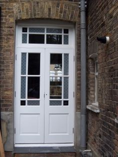Bespoke Pair Designs Back Doors External Doors Bespoke period wooden,Victorian Edwardian and Georgian style Front doors and Sash windows,Supplied and fitted across London and the home counties Doors, County House, External Doors, Victorian Front Doors, Double Patio Doors, Concrete Patio Designs, Victorian Patio Doors, Narrow French Doors, Patio Furniture Makeover
