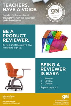 Global Educator Institute is seeking product reviewers. The only qualification. Be a great teacher. Become a reviewer today. Take five minutes to create a confidential profile. Together, we're raising the profile of the world's best products.