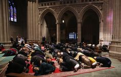 Hundreds of Muslims attend weekly prayers at iconic Christian cathedral | Americas | News | The Independent