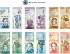 Nelson Merentes presidente del Banco Central de Venezuela (BCV) anunció que a partir del día 15 de diciembre comenzarán a circular los nuevos billetes. Los nuevos billetes de Bs. 500 Bs. 1.000 Bs. 2.000 Bs. 5.000 Bs. 10.000 y Bs. 20.000 presentados por el BCV guardan un estrecho parecido en diseño y color con los billetes de baja denominación que se encuentran actualmente en circulación.  En este sentido aseguró Cada billete es como personalizado no se repite en ninguna de las escalas…