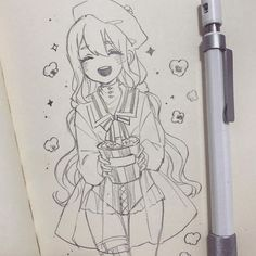 fashion sketch how to draw Anime Drawings Sketches, Anime Sketch, Kawaii Drawings, Cute Drawings, Anime Character Drawing, Character Art, Anime Art Girl, Manga Art, Arte Sketchbook