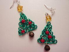 Christmas Tree Elegant Earrings