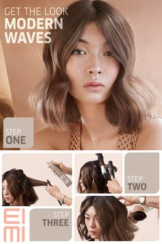Get the Look: Modern Waves Discover the molten look with this step-by-step guide for gorgeous color and modern waves styled with EIMI Grip Cream for strong yet flexible support.