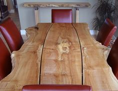 Live edge gapped character slab dining table by Live Edge, via Flickr