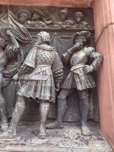 Stuttgart, Germany - photo from Rich Garrett Medieval Armor, Medieval Fantasy, Stuttgart Germany, Landsknecht, Academic Art, Historical Images, Effigy, Modern History, Modern Sculpture